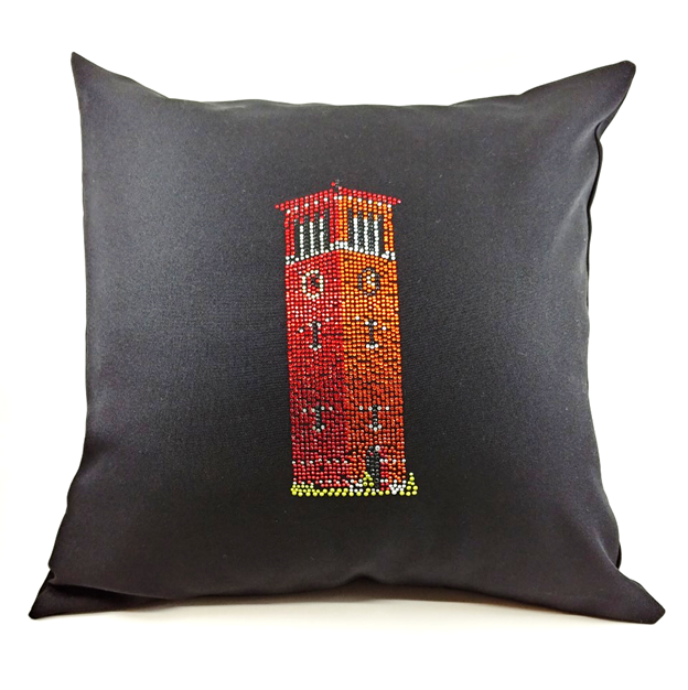 Rhinestone Bell Tower Throw Pillow