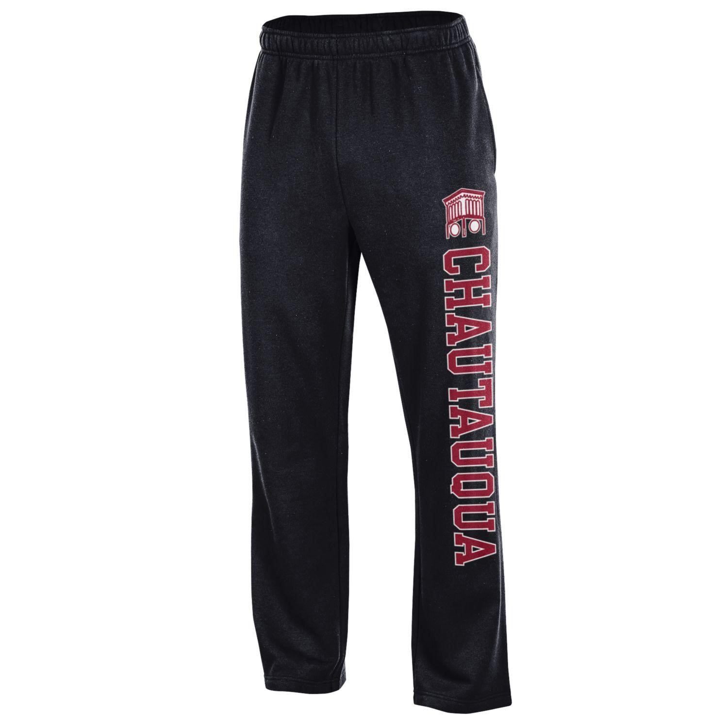 black and red Chautauqua sweatpants