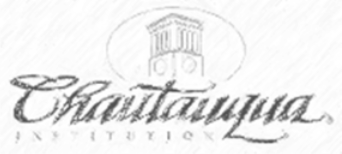 hand-sketch variation of Chautauqua Institution logo