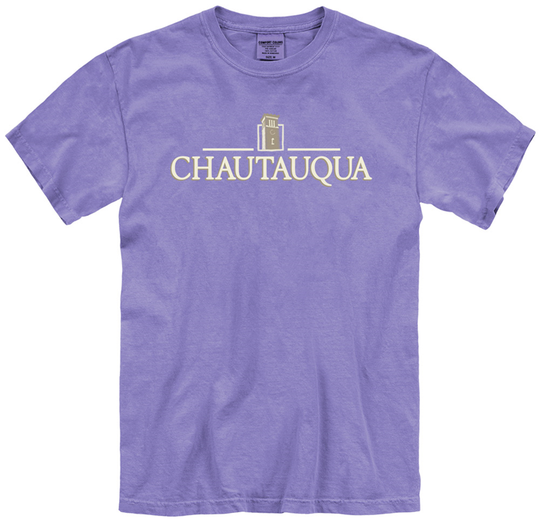 embroidered chautauqua shirt in violet