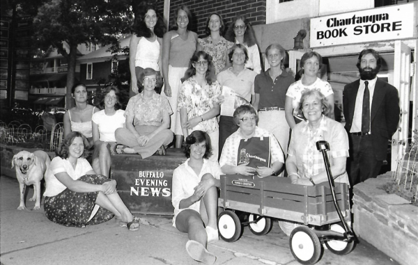 Chautauqua Bookstore & employees in 1979 at Bookstore's current location